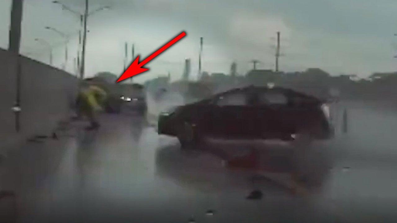 Auto rast auf US-Polizist zu - er rettet sich in letzter Sekunde