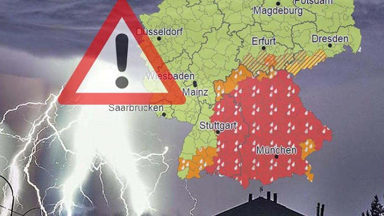 Wetterdienst warnt vor heftigen Unwettern
