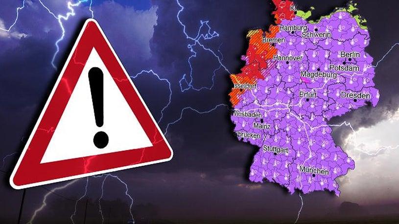 In diesen Regionen wüten jetzt schwere Unwetter