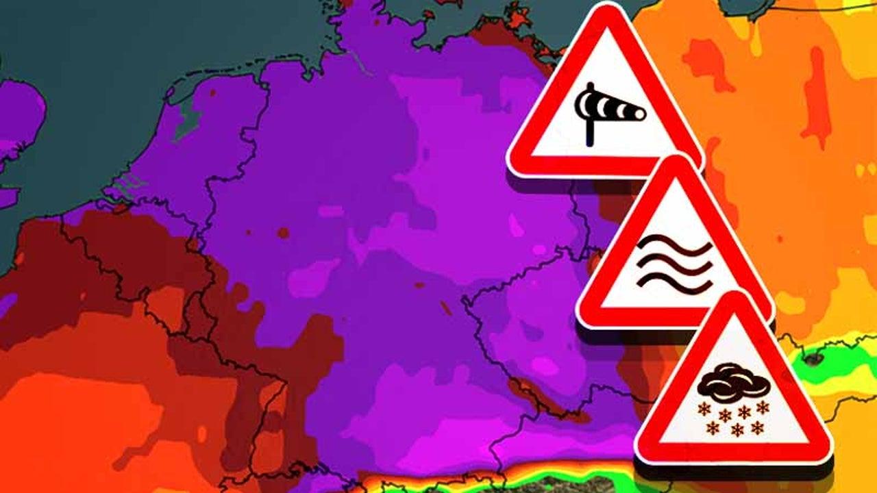 Sturm, Schnee, Hochwasser, Glätte: Wo es am Sonntag gefährlich wird