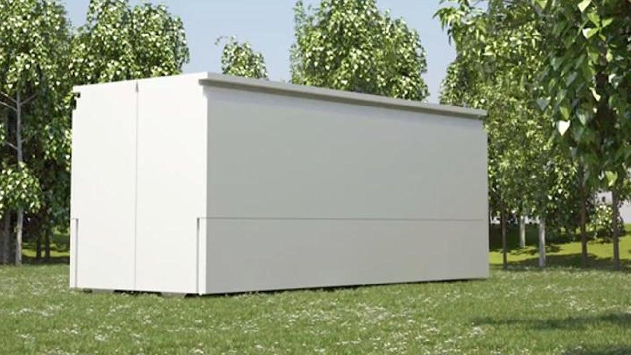 Es sieht aus wie ein Container - und dann steht das Haus