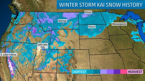 Winter Storm Kai Spreads Snow From Sierra Nevada To Northern Plains