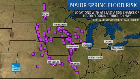 Threat of Major Spring Flooding Increasing as Near-Record March ...