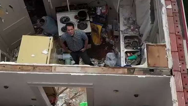 Inside a Home Destroyed by a Tornado in Jefferson City, Missouri