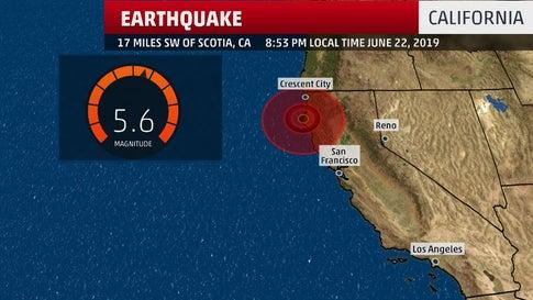 5.6 Magnitude Earthquake Strikes Northern California Saturday Night