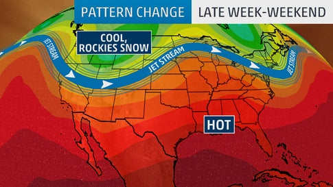 Pattern Change to Bring Colder Temperatures to West, Snow to Rockies and Heat to South