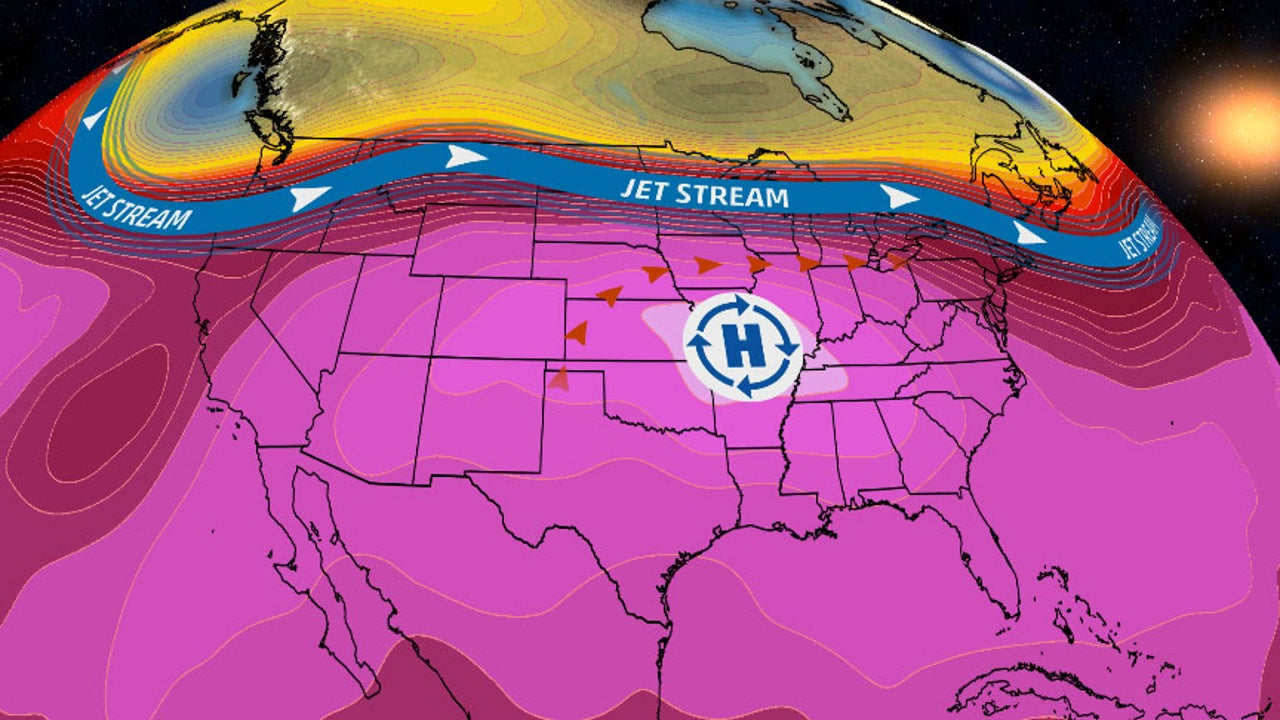 Heat will spread from the Plains and Midwest to the East Coast.