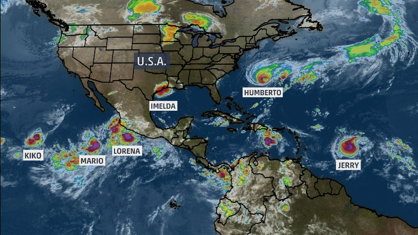 Six Named Storms at Once Ties Modern Record