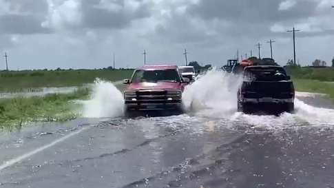 Texas Town Waiting for Flood Water to Recede