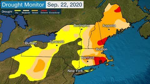 Us Drought Map Weather Com New England Drought Has Reached Extreme Levels With Record Dry