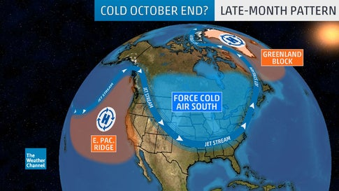 October Could End With Widespread Cold in Central, Eastern U.S.