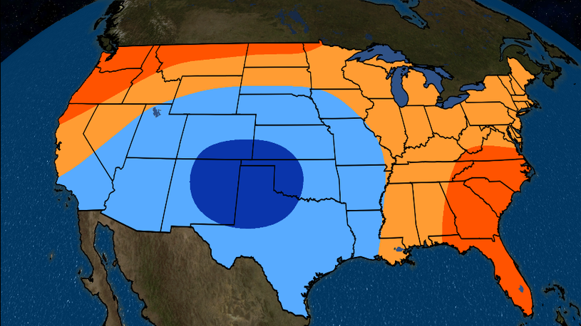 July 2019 Temperature Outlook: Hot in Southeast, Northwest and ...