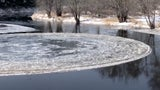 Bizarre Ice Disk Forms in Maine