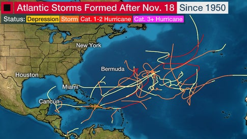 Tropical Storm Sebastien Roamed the Atlantic in Late November (RECAP)