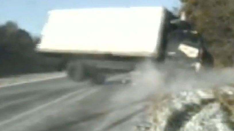 Terrifying Rollover on Illinois Highway