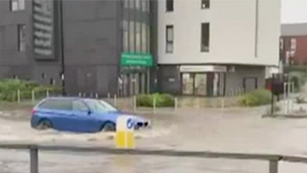 UK Flooding Strands Shoppers, Forces Evacuations