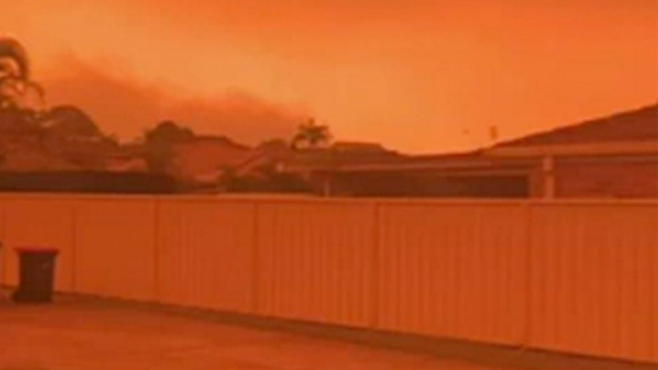 Australian Brushfires Turn Sky Over New South Wales Orange