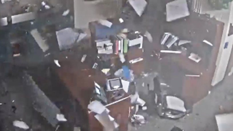 Security Cameras Capture Moment Tornado Rips Through School