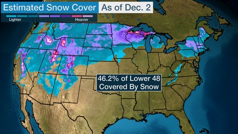 December in the Lower 48 Begins With Most Snow Cover in ...