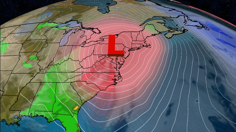 Eastern Weekend Storm May Produce More Rain Than Snow