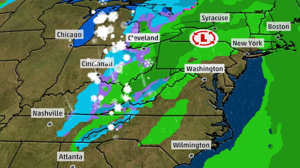 Late-Week Storm May Cause Pre-Christmas Travel Delays in the East