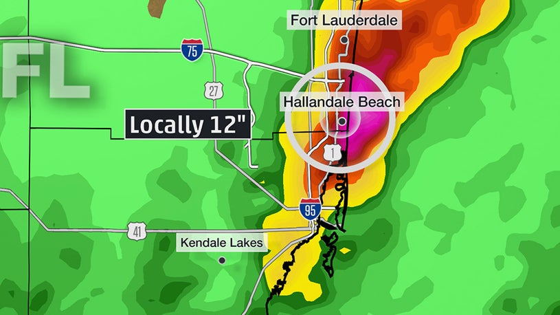 Charleston, South Florida Drenched by Rain from Coastal Low