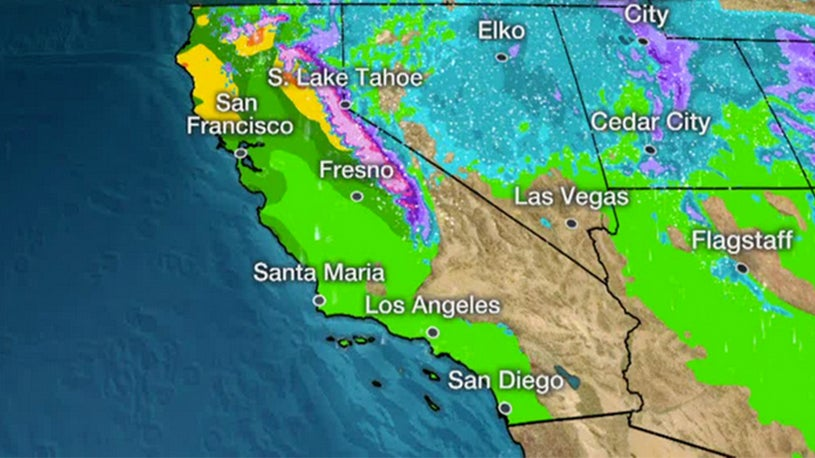 Los Angeles Weather Map Levee Break Shuts Down California Highway, Strands Students