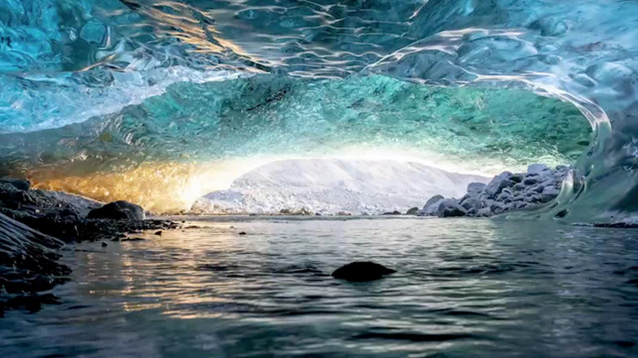 Stunning View Inside Iceland Ice Cap