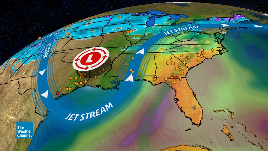 Otra ronda de fuertes lluvias empapará el sudeste este viernes