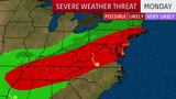 Stormy Start to the Week From Mississippi Valley to the Northeast