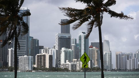 MIAMI, FLORIDA - MARCH 28: The skyline is seen as the Democratic National Committee announced today that it has selected the City of Miami to host the party's first presidential debates for the 2020 election on March 28, 2019 in Miami, Florida. The events scheduled for June 26 and 27 will be televised on NBC, MSNBC and Telemundo.(Photo by Joe Raedle/Getty Images)