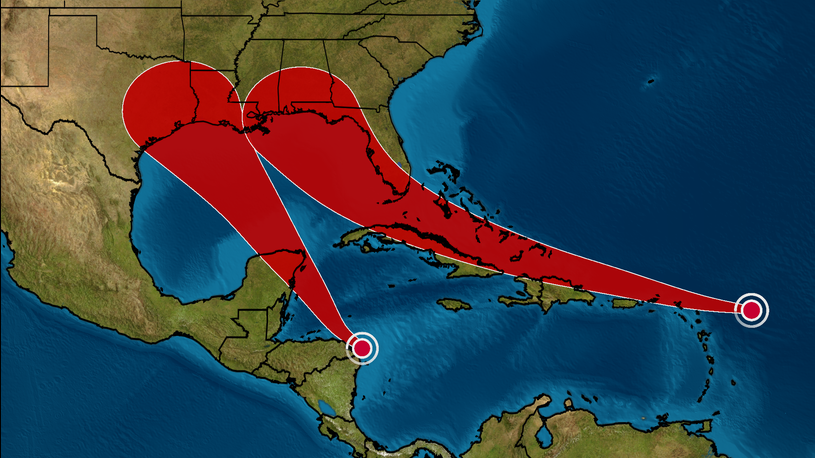 Tropical Storm Laura and Tropical Depression Fourteen: Track the ...
