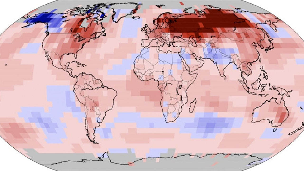 Hottest January on Record for the Planet, NOAA Says