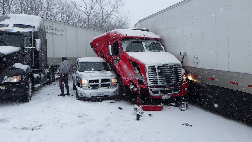 Deadly Winter Storm Highways Shut Down 43 Vehicle Pileup Triggered