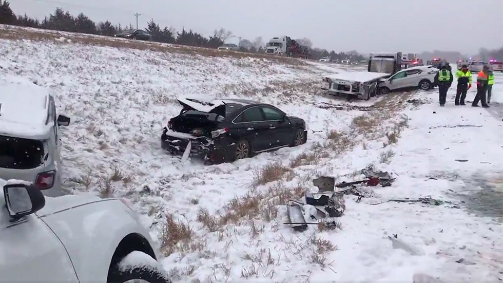 Deadly Winter Storm: Highways Shut Down, 43-Vehicle Pileup Triggered