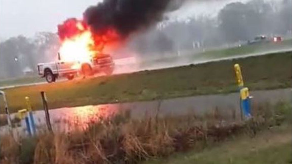 Lightning Strikes Truck in Louisiana, and This Is Result