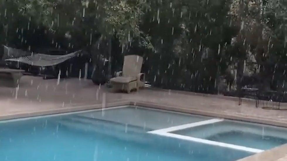 Rare Snow in Los Angeles