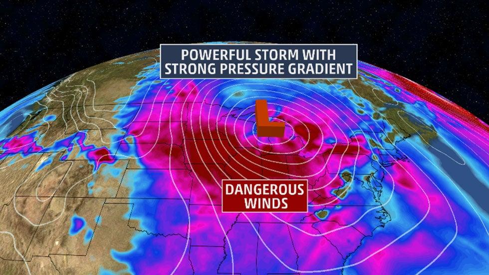 Quiana Brings Huge Wind Threat Through The Weekend