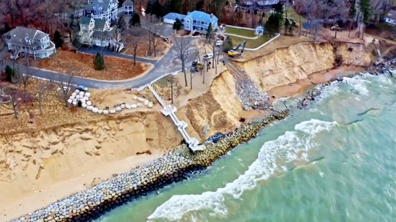 Lake Michigan's High Water Levels Cause Extreme Erosion