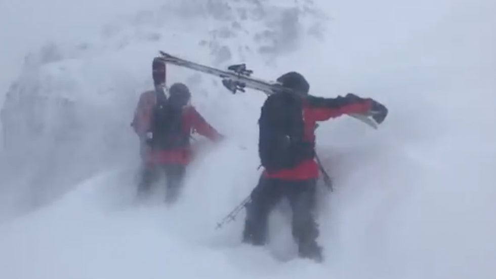 Ski Patrollers Get Battered by Brutal Winds in California