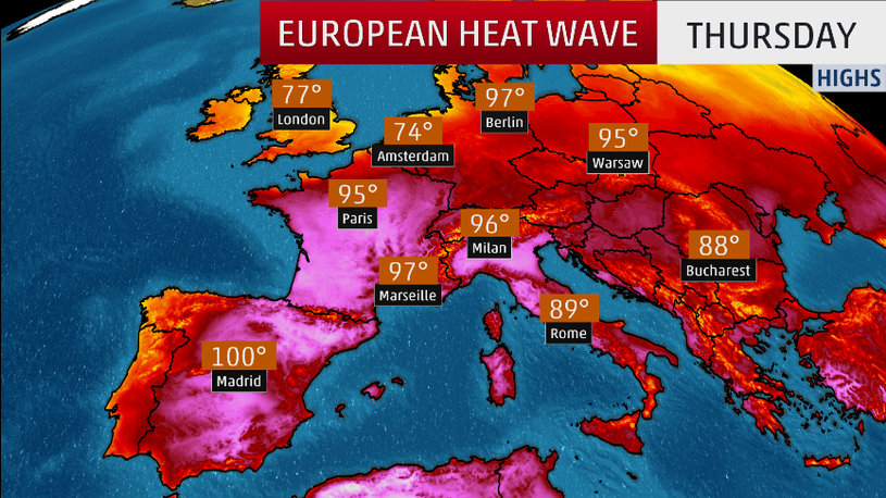 Record Breaking Heat Continues in Europe