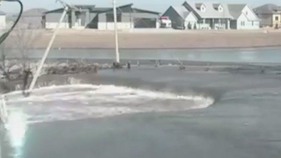 Power Poles Fall, Sparks Fly as Nebraska's Platte River Overflows Banks