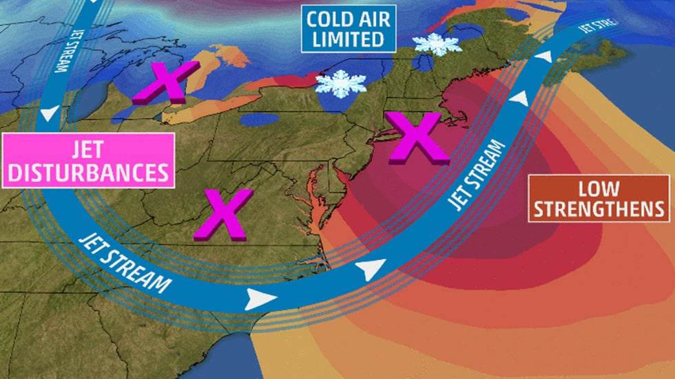 Coastal Storm Bringing Rain, Snow and Lots of Wind to Northeast