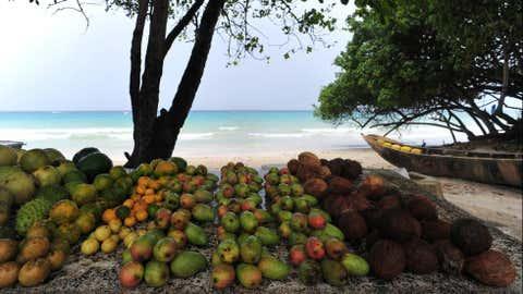 Der Seychellen-Archipel wurde Zeuge eines schrecklichen Ausmaßes der Korallenbleiche. Zudem gefährdet Erosion dieses Paradies. (Alberto Pizzoli/AFP/Getty Images)