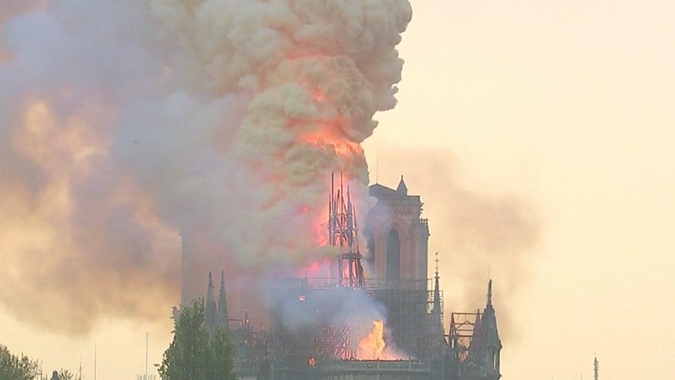 Notre Dame's Rose Windows, Crown of Thorns Safe After Fire