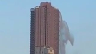Watch: Quake Transforms Skyscraper into Waterfall. Weather
