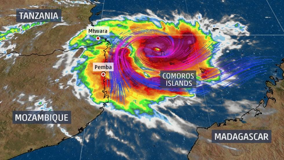Tropical Cyclone Kenneth To Bring Feet of Rain, Damaging Winds
