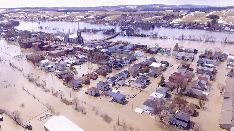Floodwaters Leave Nearly 1,000 Homes Underwater in Quebec