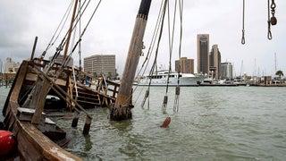 Replica Of Columbus Ship Sinks Again