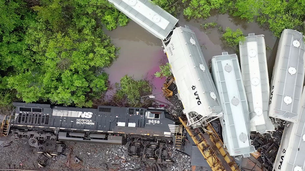 Excessive Rain and Flooding Lead to Train Derailment in Mississippi